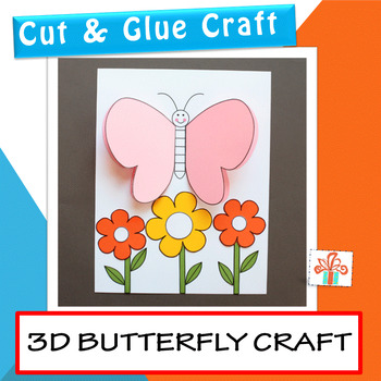 Butterfly Craft for Spring and Summer - 3D Paper Butterfly