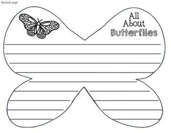 Butterfly Craft with Informative Writing Book