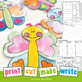 Butterfly Craftivity - Paper Craft + Writing for Spring