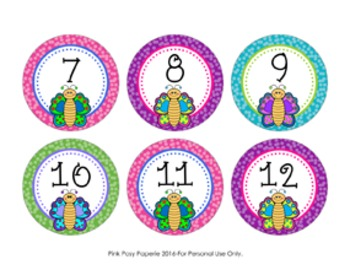 Butterfly Cubby Number Labels 1-30