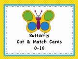Numbers 0-10: Butterfly Cut & Match Cards