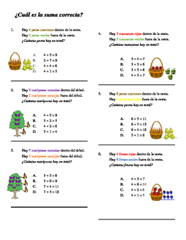 Math Worksheet_ Spanish_Butterfly Cycle Unit