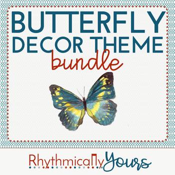 Butterfly Decor Theme - BUNDLE