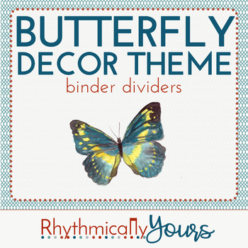 Butterfly Decor Theme - binder dividers