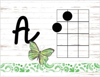 Butterfly Decor Theme - ukulele chord charts
