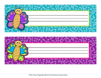 Butterfly Desk Name Plates