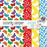Butterfly Digital Paper Sampler