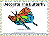 Butterfly Do Together Parent/Child Homework Activity