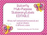 Butterfly EDITABLE Parent Letter, Announcement, Newsletter