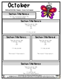 Butterfly - Editable Newsletter Template - #60CentFinds -