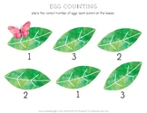 Butterfly Egg Counting Activity Sheet