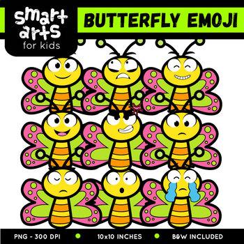 Butterfly Emoji Clip Art