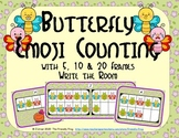 Butterfly Emoji Counting with 5, 10 & 20 Frames {Subitizing}
