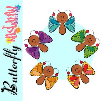 Butterfly Emotions/Feelings Clipart