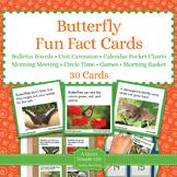 Butterflies Unit Activity - Fun Fact Cards for Games, Bull