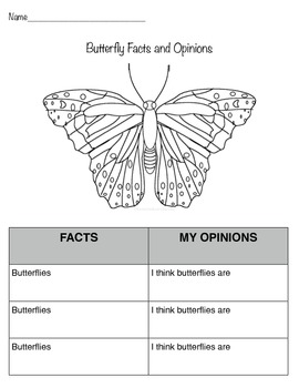 Butterfly Fact and Opinion