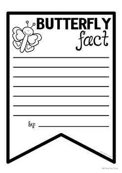 Butterfly Facts Banner {Bunting, Garland, Pennant Display}