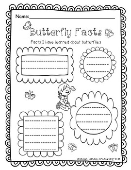 Butterfly Facts Sheet