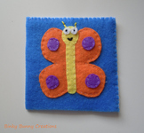 Butterfly Felt Sewing Craft Templates & Directions