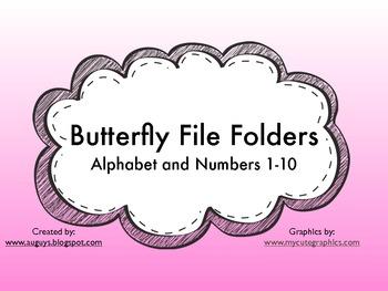 Butterfly File Folder