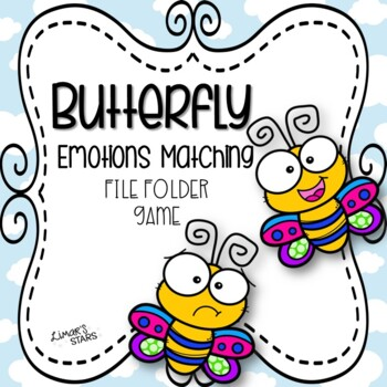 Butterfly File Folder Game: Emotions Matching