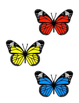 Butterfly File Folder Game--Matching Colors