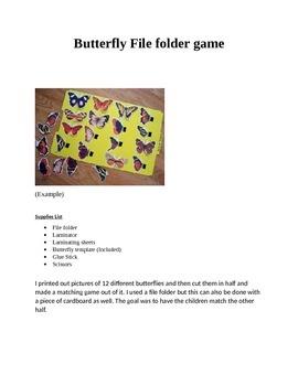 Butterfly File folder game