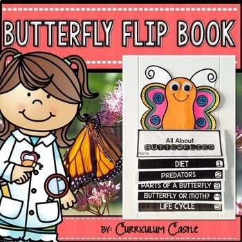 Butterflies & Butterfly Life Cycle Flip Book {Reading Comprehension & Craft}