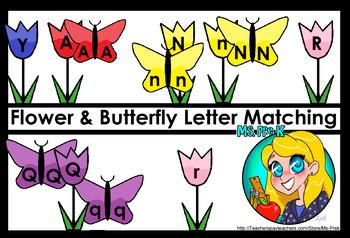 Butterfly & Flower Letter Matching for Preschool