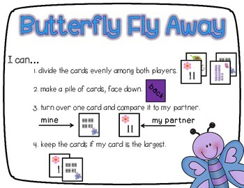 Butterfly Fly Away   A Comparing Numbers Game CC Aligned