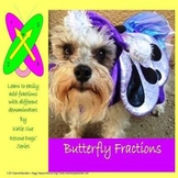 4.NFA.2 Butterfly Fractions Adding w/unlike Denominators Rescue Dogs SPED/ELD