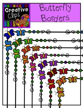 Butterfly Borders {Creative Clips Digital Clipart}