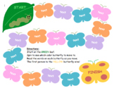 Butterfly Game Board: Editable for Sight Words, Math Facts