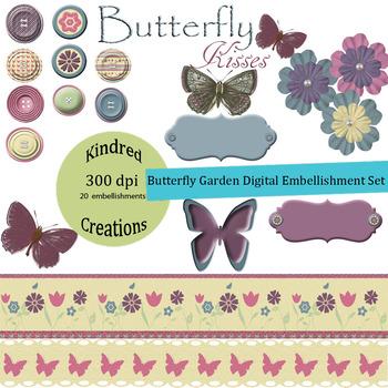 Butterfly Garden Clip Art