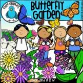 Butterfly Garden Clip Art Set - Chirp Graphics