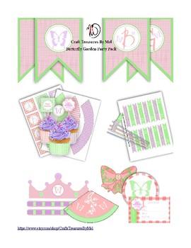 Butterfly Garden Decor/Stickers pack1