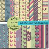Butterfly Garden Digital Paper Pack