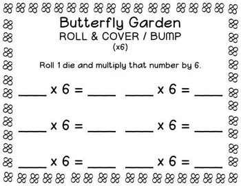 Multiply by 2, 4, or 6 Roll & Cover or BUMP Game