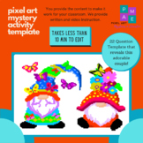 Butterfly Gnomes Pixel Art Mystery Activity Template