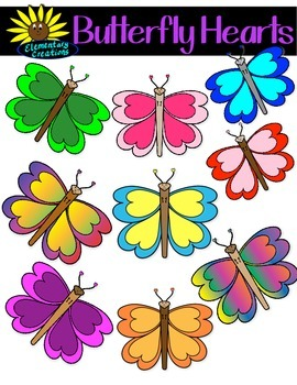 Butterfly Hearts Clipart