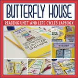 Butterfly House by Eve Bunting Book Companion and Life Cycles Lapbook