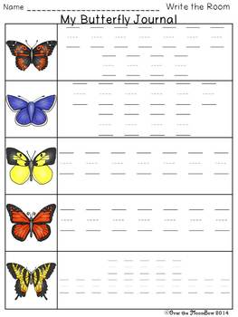 Butterfly Hunt Write / Stamp the Room Activity Pack