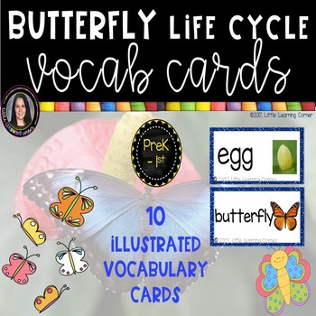 Butterfly Vocabulary Word Cards