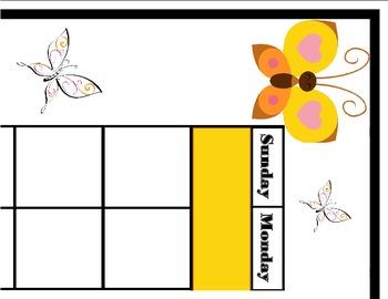 Butterfly Calendar! Butterfly Bulletin Board! Butterfly Th