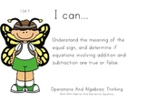 Butterfly Kids Theme 1st grade math Common Core Posters first Grade Standards