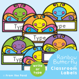 Butterfly Labels / Name Tags for the Classroom {Editable}