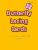 Spring Butterfly Lacing Cards