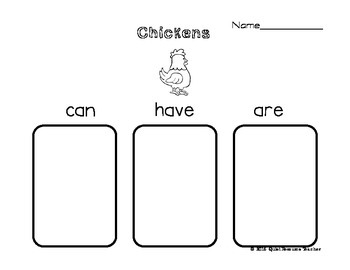 Butterfly, Ladybug, Chicken, Frog Life Cycle Review Graphic Organizer