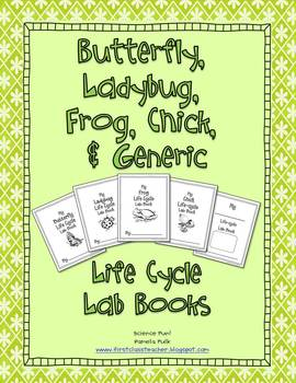 Butterfly, Ladybug, Frog, & Chick Life-cycle Lab Books