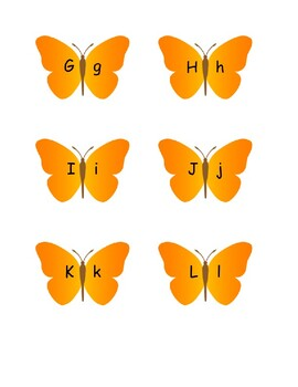 Butterfly Letter Cards
